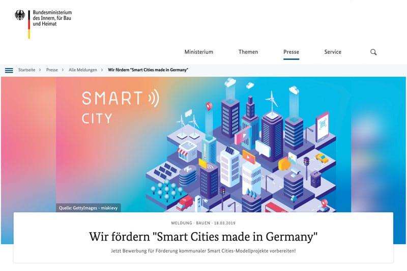 Smart Citys: Jetzt für die Förderung bewerben