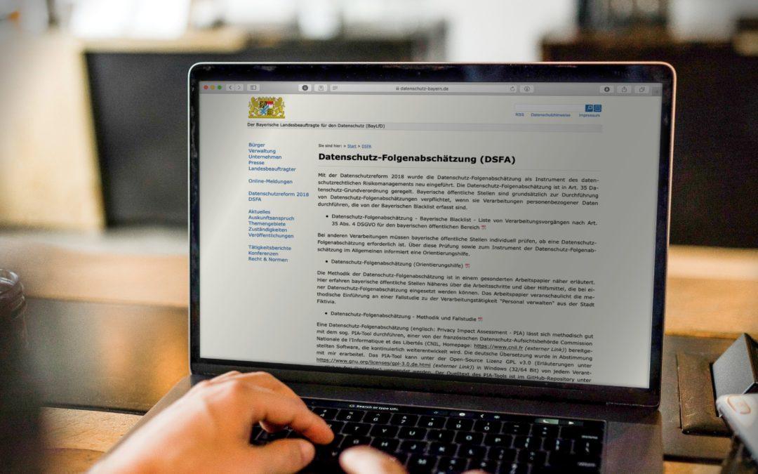 Hilfen zur Datenschutzfolgenabschätzung