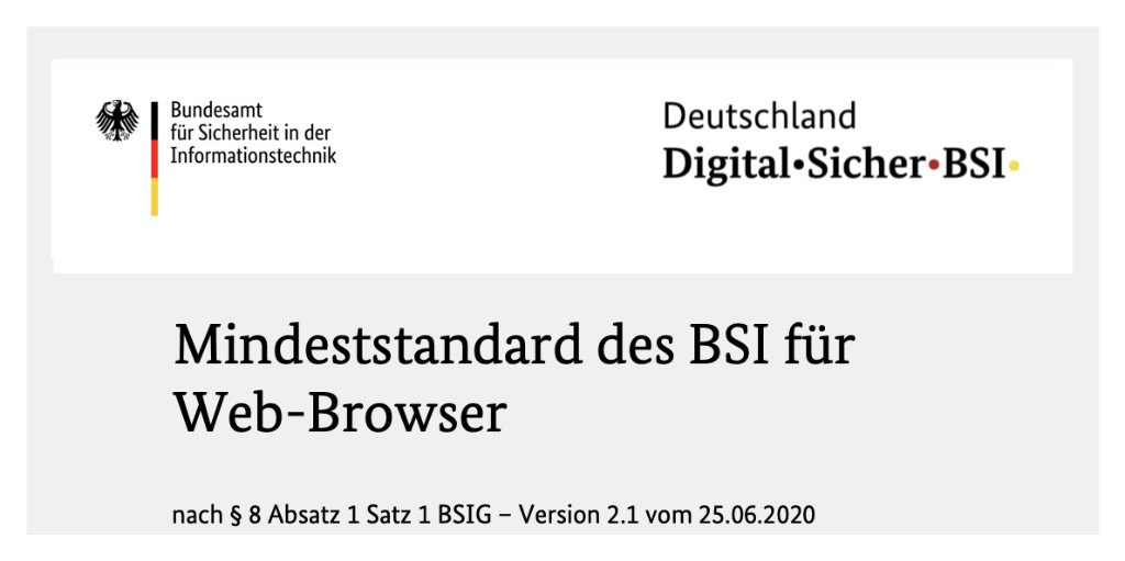 BSI aktualisiert Mindeststandard für Web-Browser